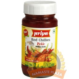 PRIYA RED CHILLI PICKLE WITH OUT GARLIC 300GMS