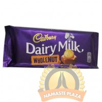 CADBURY DAIRY WHOLE NUT BAR 120G