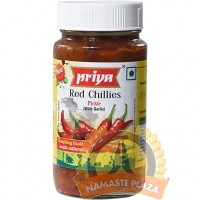 PRIYA RED CHILLI PICKLE WITH GARLIC 300GMS